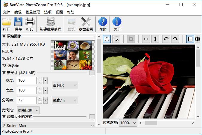 图片无损放大工具Benvista PhotoZoom Pro 7.0.6 中文多语免费版